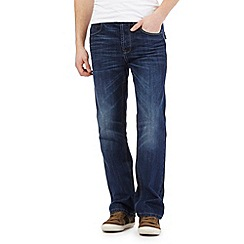 Mantaray - Big and tall mid blue loose fit jeans