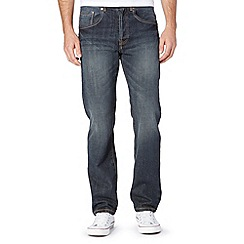 Mantaray - Big and tall dark blue straight leg dark wash jeans