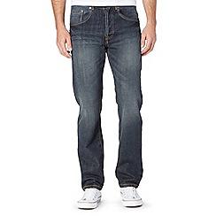 Mantaray - Dark blue straight leg dark wash jeans