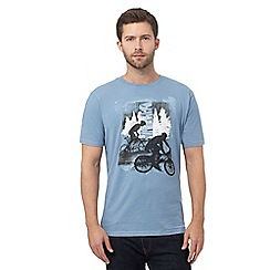 Mantaray - Blue mountain print t-shirt