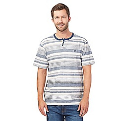 Mantaray - Blue marl striped t-shirt