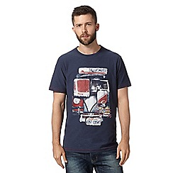 Mantaray - Navy patchwork camper van t-shirt