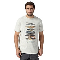 Mantaray - Big and tall off white surfboard print t-shirt
