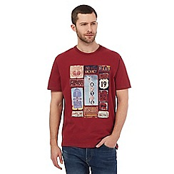 Mantaray - Big and tall wine highway crew neck t-shirt