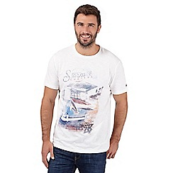 Mantaray - Big and tall off white 'storm chaser' t-shirt
