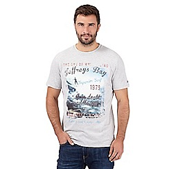 Mantaray - Grey 'Jeffreys Bay' crew neck t-shirt