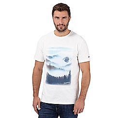 Mantaray - Big and tall off white misty crew neck t-shirt