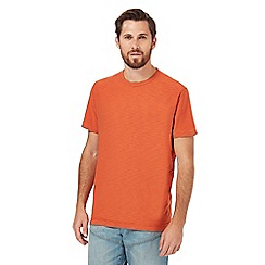 Mantaray - Big and tall orange textured jersey t-shirt