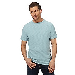 Mantaray - Big and tall light blue textured jersey t-shirt