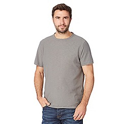 Mantaray - Big and tall grey textured jersey t-shirt