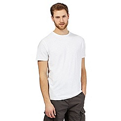 Mantaray - Big and tall white textured crew neck t-shirt