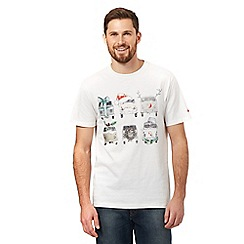 Mantaray - White Christmas camper van t-shirt