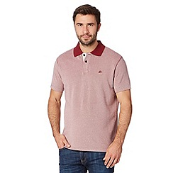 Mantaray - Big and tall dark red heavy pique polo shirt