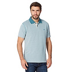 Mantaray - Big and tall turquoise heavy pique polo shirt