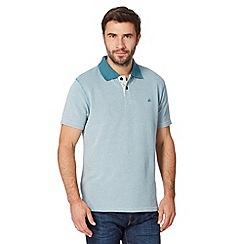 Mantaray - Big and tall turquoise heavy pique polo shirt