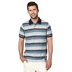 Mantaray - Blue fine stripe polo shirt
