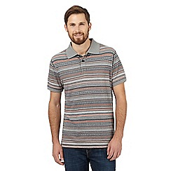 Mantaray - Grey striped polo shirt