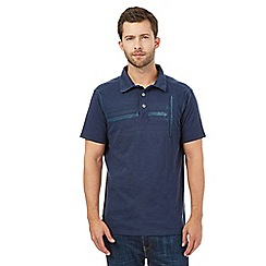 Mantaray - Navy striped polo top