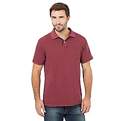 Mantaray - Big and tall burgundy pique polo shirt