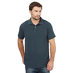 Mantaray - Big and tall green pique polo shirt