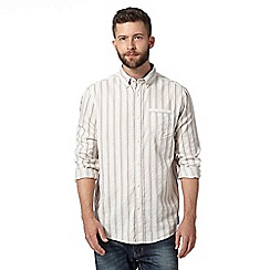 Mantaray - Off white textured striped shirt