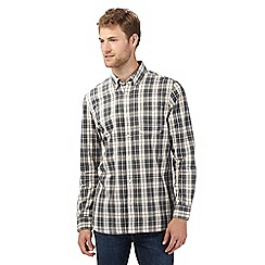 Mantaray - Big and tall green herringbone checked regular fit shirt