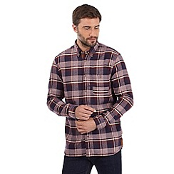 Mantaray - Big and tall wine marl checked shirt