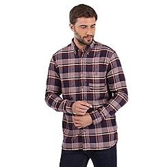 Mantaray - Wine marl checked shirt