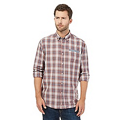 Mantaray - Big and tall red checked shirt