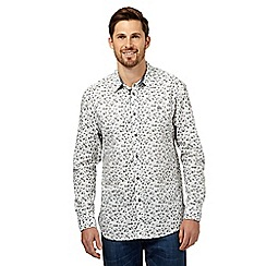 Mantaray - Big and tall off white ditsy floral print shirt