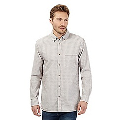 Mantaray - Big and tall off white textured stripe shirt