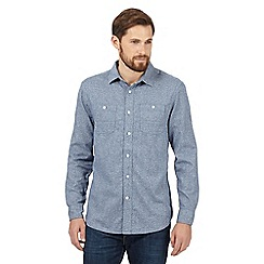 Mantaray - Blue textured shirt