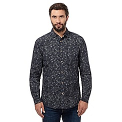 Mantaray - Big and tall navy floral shirt