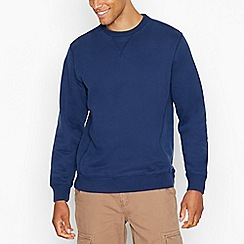 Mantaray - Big and tall navy pique zip through sweater
