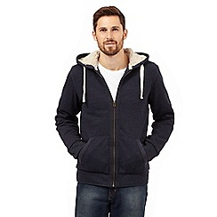 Mantaray - Big and tall navy sherpa hoodie