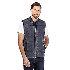 Mantaray - Big and tall navy textured gilet