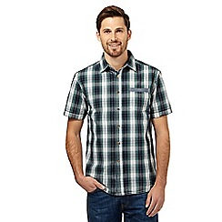 Mantaray - Big and tall green tartan checked short sleeved shirt