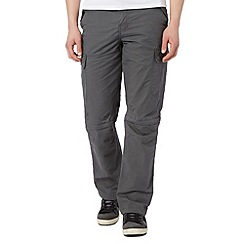 Mantaray - Big and tall grey zip off leg cargo trousers