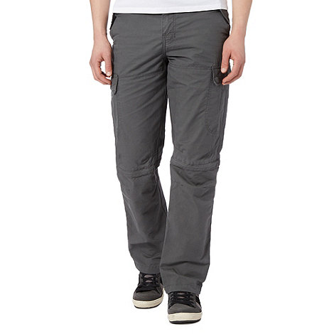 Mantaray - Grey zip off leg cargo trousers