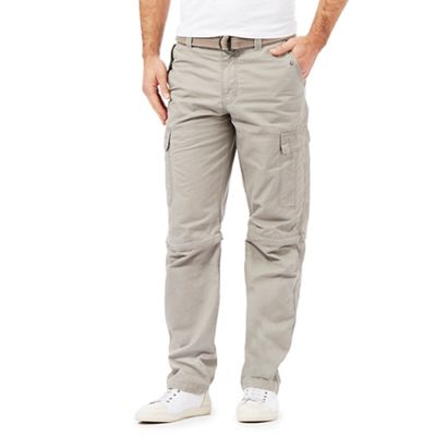 Mantaray Natural zip off leg cargo trousers - . -