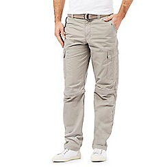 Mantaray - Big and tall natural zip off leg cargo trousers