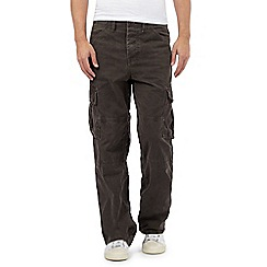 Mantaray - Big and tall dark brown cargo trousers