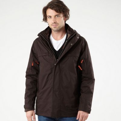 Dark Brown 3 In 1 Performance Jacket