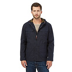 Mantaray - Big and tall navy hooded hiking jacket