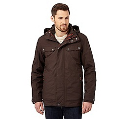 Mantaray - Dark brown waterproof jacket