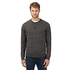 Mantaray - Dark grey lightweight grandad sweatshirt