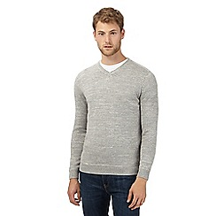 Mantaray - Big and tall grey lightweight v neck sweatshirt