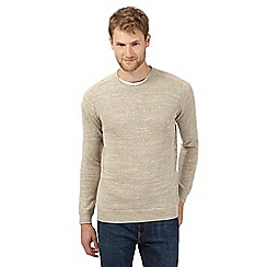 Mantaray - Big and tall natural lightweight crew neck sweatshirt