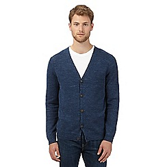Mantaray - Big and tall navy lightweight cardigan