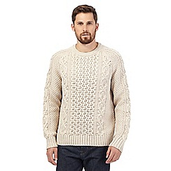 Mantaray - Big and tall natural cable knit jumper